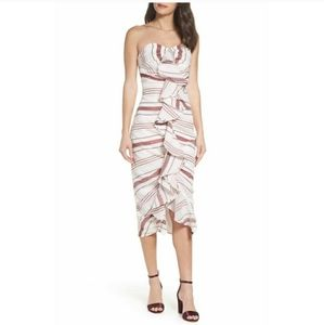 C/MEO Collective On Her Own Strapless Midi Dress